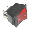 Выключатель B127A /SC-767/  4C (2XON-OFF) (Красный)