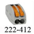 Клемма WAGO 222-412 с рычажками