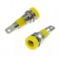 Клемма ZP-009 4mm Panel-mount Socket,Yellow/Желтый/
