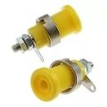 Клемма ZP-012 4mm Panel-mount Socket Yellow /Желтый/