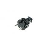 Вилка штепсельная В6-001 6А  черная (6А,250В)