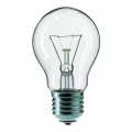 Лампа накаливания Б E27  75W 220V  ЛОН прозрачная