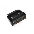 SCART-3RCA+SVHS гн. с переключателем