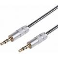 AUX-кабель в гибкой металлической оплетке 3.5 мм 1 м