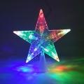 Звезда белая на елку 10 ламп 16*16см мульти