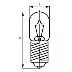 ЛАМПА МН-18-0,1 (Е10/13)