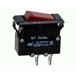 M1L15-B1120-G, выключатель-автомат 250В 15A (с подсветкой)