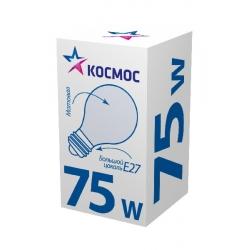 Лампа накаливания КОСМОС E27  75W  А55 прозр.