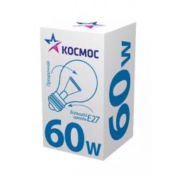 Лампа накаливания КОСМОС E27  60W  А55 прозр.