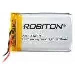 Аккумулятор  Robiton LP503759 1200mAh 3.7V Li-Pol с защитой