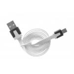 Шнур USB-A штекер - microUSB дл. шт  1м белый