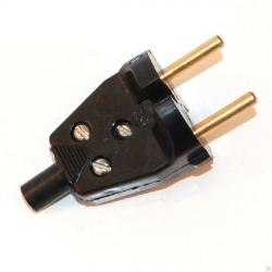 Вилка штепсельная В6-001 6А кембрик/черный