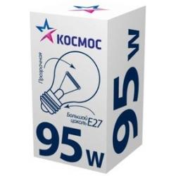 Лампа накаливания КОСМОС E27  95W  А55 прозр.