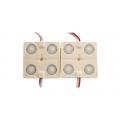 Модуль SMD 2835  4 LED линзованный  1,44 W  12V  6500К