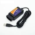 Адаптер для диагностики авто OBD II USB провод 140 м, в.2,1