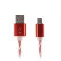 Кабель micro USB - USB прозрачный силикон шт мет. 1А 1м