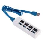 USB разветвитель на 4 порта с выключателями 0,5 м