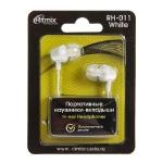 Наушники Ritmix RH-011 вакуумные 100 дБ  шт 3.5 мм, 1.2м