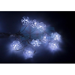 Гирлянда нить Роса-Снежинки  3м 30 LED 6V