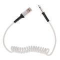 Кабель micro USB - USB 2А 1м пружина