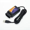 Адаптер для диагностики авто OBD II USB провод 140 м, в.1.5