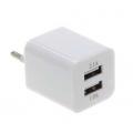 Сетевое зарядное устройство 2 USB 1A/2A Куб