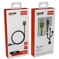 Кабель micro USB - USB  2А 1м  резиновый PM-02m