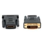 Переходник HDMI (f) - DVI-D (m), GOLD-(HAP-009]