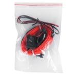 Неоновая нить плоская  12 V   2м  адаптер красный