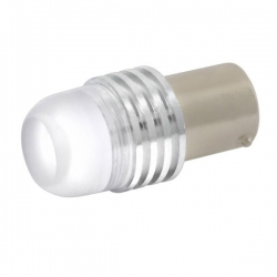 Лампа светодиод. S25(P21W)  12V  1 диод с цоколем красная