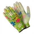 Перчатки п/э с полиуретановым покрытием, цветные. М