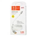 Кабель Lightnind - USB  2.4А 1м  с магнитными кольцами  D11L