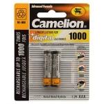 АККУМУЛЯТОР Camelion R03/AAA 1000 mAh Ni-MH (BL2)
