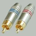 7-0222 ТЮЛЬПАН RCA ШТЕКЕР мет. на кабель /SZC-0218/ Черный (1-276G)