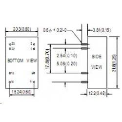 DC/DC SCW05A-15 5Вт для монтажа на печ. плату