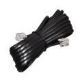 Удлинитель телефонный 6P-4C  2М /FD-6113/ (Черный)