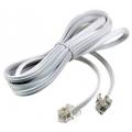 Удлинитель телефонный 6P-4C  5М /FD-6113/ (Белый)