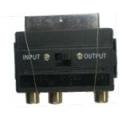 SCART-3 RCA переходник с переключателем (FD5556)
