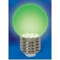 Лампа Uniel Шар G45 E27 0,65W Зеленый 71x45 LED-G45-0,65W