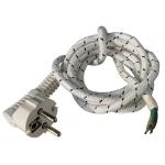 Шнур сетевой для утюга (провод ШРО) 2*0,75  1,7 м (Белый)