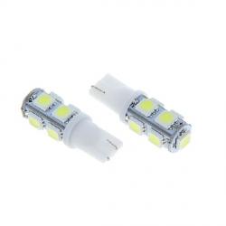 Автолампа светодиодная 9 SMD-5050  габарит T10(W5W)белый (белый)