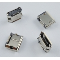 MICRO USB B 5pin female 6,2mm for Dip  розетка на плату