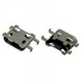 MICRO USB B 5pin female Sink 1.0 dip  розетка на плату (HL-MU005)